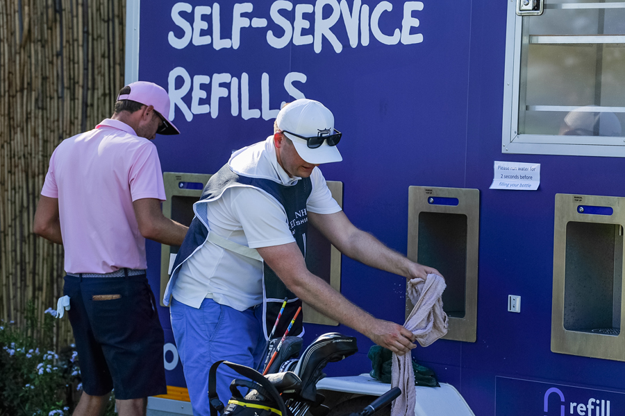 The 2019 Alfred Dunhill Championship followed the lead of The Open Championship and offered players and spectators free refillable water points if they brought their own non-plastic water bottles.