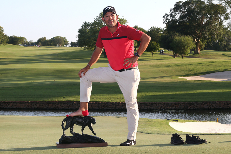 Spain's Pablo Larrazábal had to overcome severe blisters in his final round on his way to winning the 2019 Alfred Dunhill Championship at Leopard Creek.