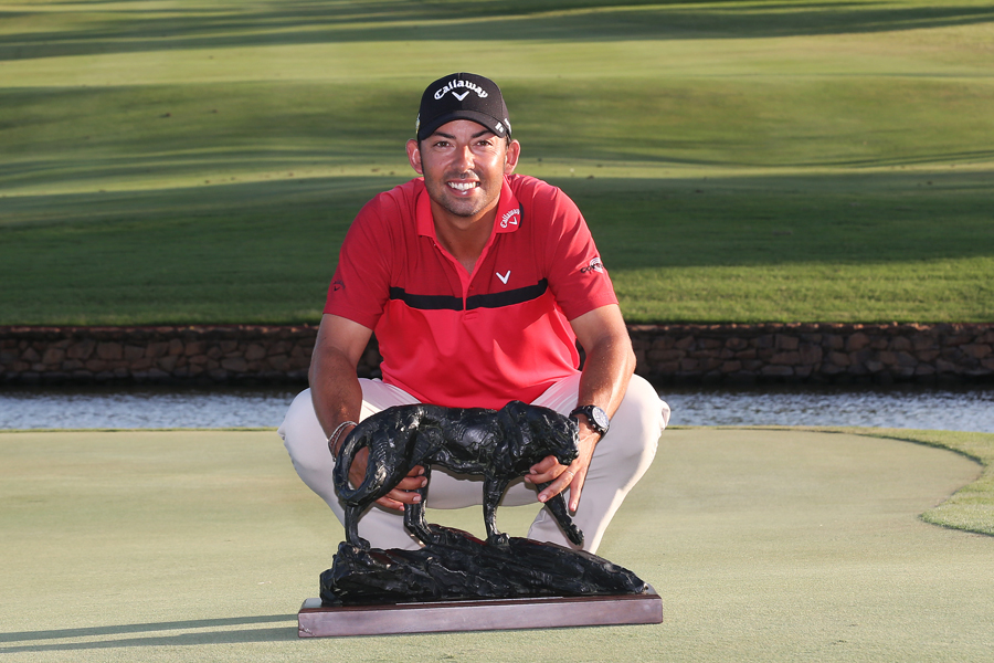 Spanish professional Pablo Larrazábal following his one-stroke victory in the 2019 Alfred Dunhill Championship at Leopard Creek.