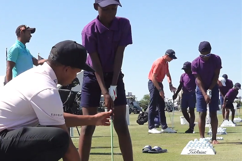 Kids golf clinic at the 2019 Alfred Dunhill Championship